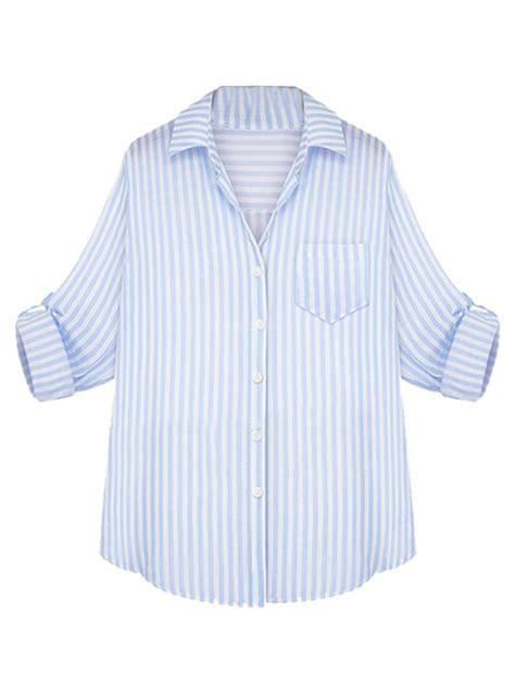Lipstik Sweater Blue Mlouterwear Wanita Sweater Wanita Classic Blue And White Stripe Button Up From Midnight Bandit
