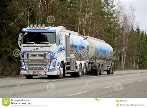 Milk Tanker Design | volvo fh tank truck transports valio milk editorial photo