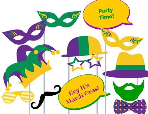 Printable Mardi Gras Photo Booth Props | mardi gras photo booth props magical printable