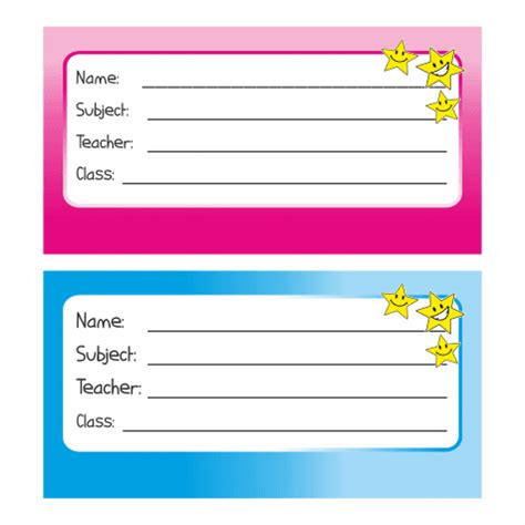 70 School Name Tags Stickers Book Labels Ebay School Book Labels Template
