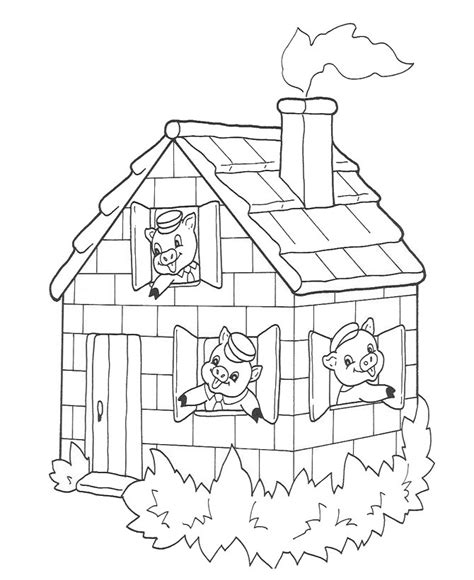 Brick House Coloring Page | brick house coloring pages coloring pages