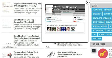 cara membuat facebook jadi rame cara membuat facebook likebox melayang di blogger 100