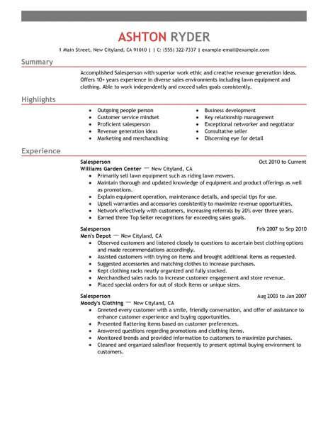 Retail Salesperson Resume Exles Created By Pros Myperfectresume Retail Salesperson Resume Retail Salesperson Resume Exles Created By Pros Myperfectresume
