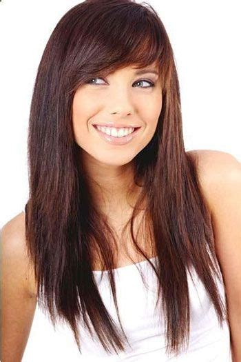 layered bangs hairstyles round faces 25 modern long haircuts with side bangs layers for oval