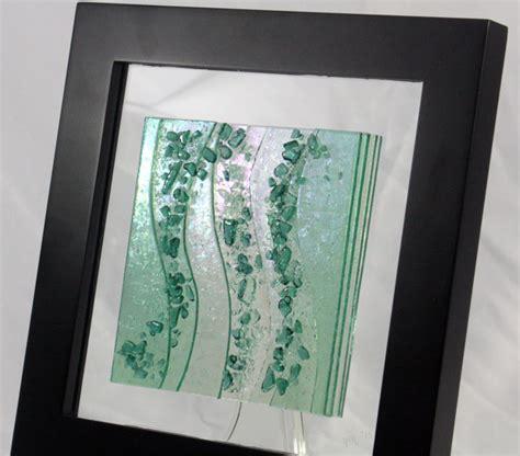 Wine Wall Stickers fused glass wall art sea glass green
