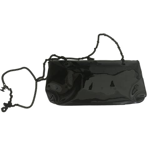 Clutch Chanel 115 chanel clutch bag clutch bags patent leather black ref 19642 joli closet