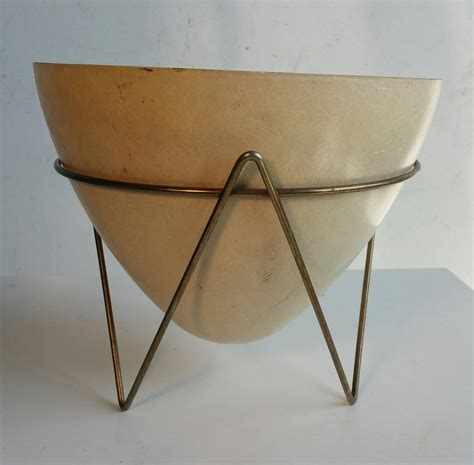 Mid Century Bullet Planter by Classic Mid Century Modern Fiberglass Bullet Planter At