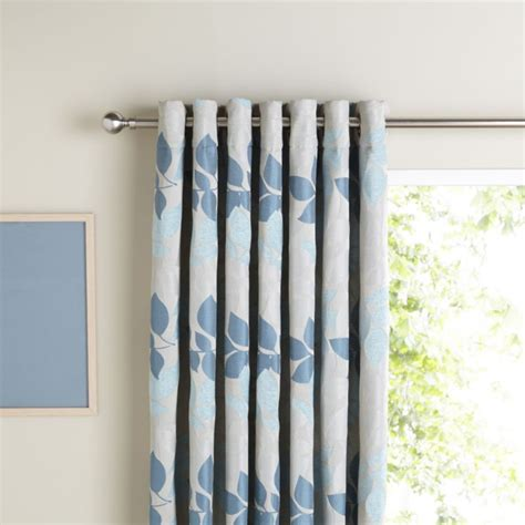taupe and duck egg blue curtains b q eyelet lined leaf jacquard curtains in taupe duck