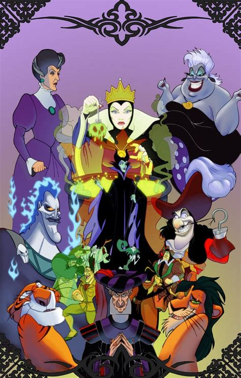 wallpaper disney villains disney villians artist unknown phone wallpaper