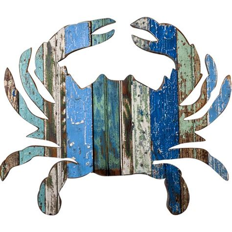 Crab Decor by Dryads Reclaimed Wood Crab Plaque Turtle