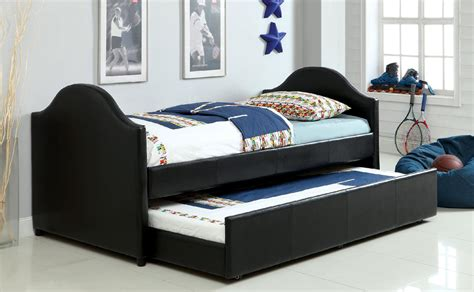 sears trundle bed furniture of america horton arched leatherette daybed with