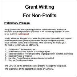 Writing A Grant Template 6 grant templates pdf doc