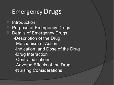 emergency drugs in emergency room emergency drugs in nephrology ward