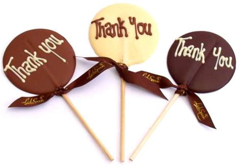 thank you letter chocolate gift thank you chocolate lolly the spoon