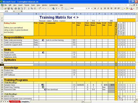 Employee Training Schedule Template Excel Schedule Template Free Free Employee Skills Matrix Template Excel