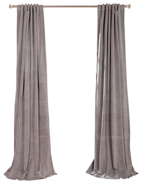 Gray Velvet Curtains Signature Silver Gray Blackout Velvet Curtain Traditional Curtains By Half Price Drapes