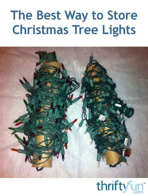 store christmas tree lights thriftyfun