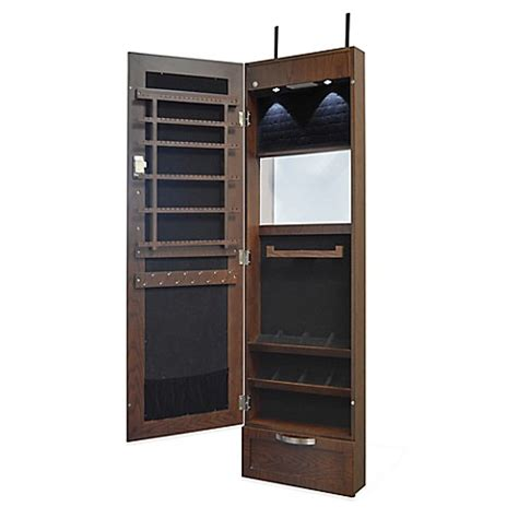over the door mirrored jewelry armoire new view over the door mirrored jewelry cabinet in