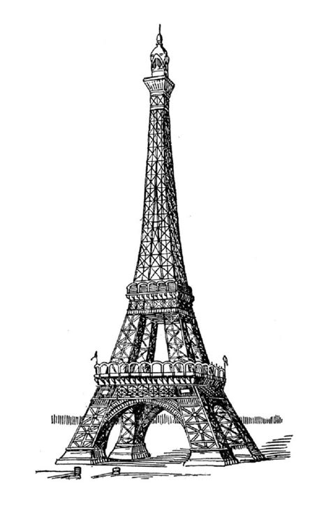 france eiffel tower coloring page eiffel tower coloring page the france building icon