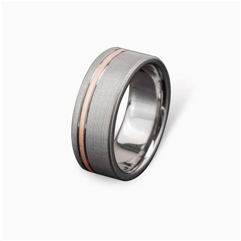 comfort fit titanium wedding bands buy a hand made titanium rose gold wedding ring comfort