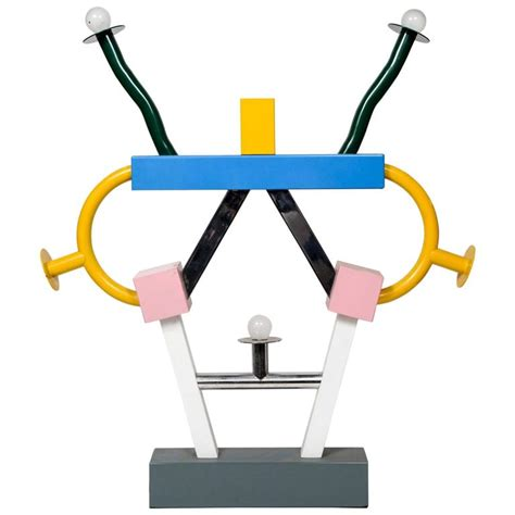 Midcentury Modern Lamp - colorful ashoka lamp by ettore sottsass for memphis for sale at 1stdibs