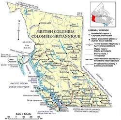 map bc canada travel columbia maps