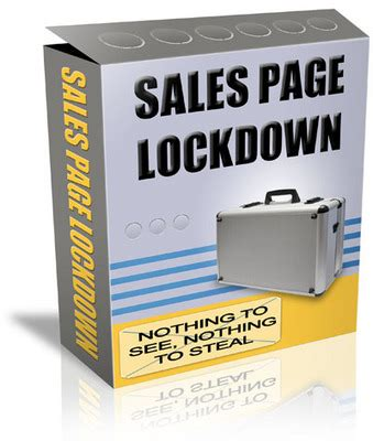 sle of zip file sales page lockdown security