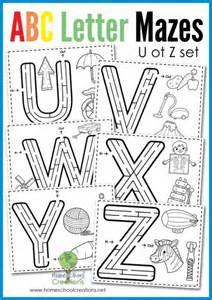 alphabet mazes letters u to z free printable
