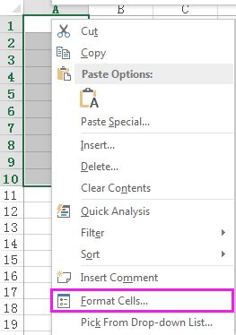 excel format x after number how to add period after numbers list in excel