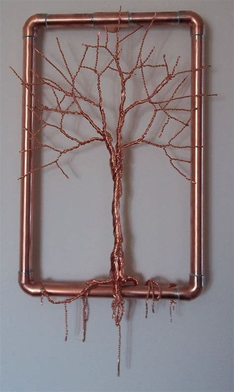 copper pipe art wire trees copper wire and hanging wall art on pinterest