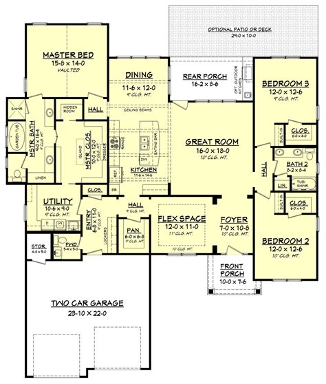 big country 5746 4 bedrooms and 3 5 baths the house craftsman style house plan 3 beds 2 50 baths 2275 sq ft