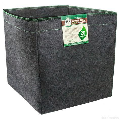gro pro 724985 20 gallon fabric pot square