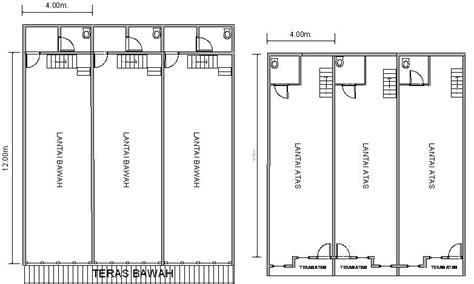 tutorial menggambar sketsa bangunan denah pondasi rumah 2 lantai 2017