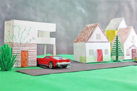 Make A Paper Village Paper Houses For Kids And House 3d Paper Crafts House Plans