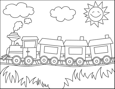 Free Coloring Pages Trains free printable coloring pages for