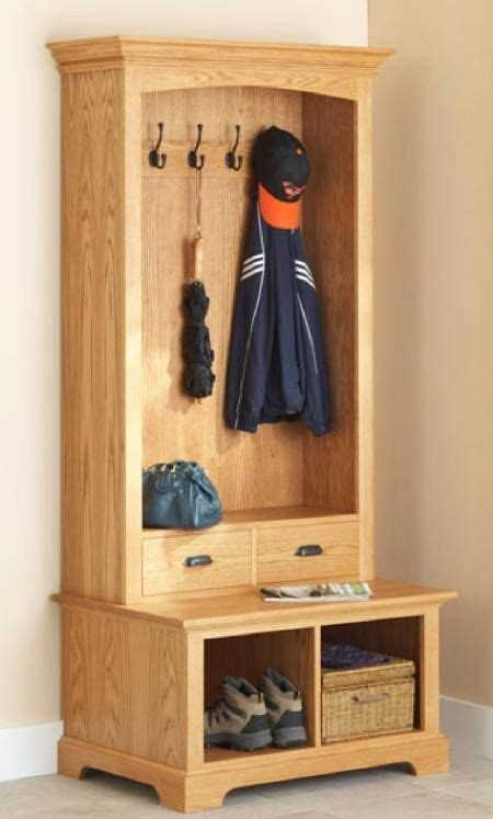 combination coat rack  bench   entry