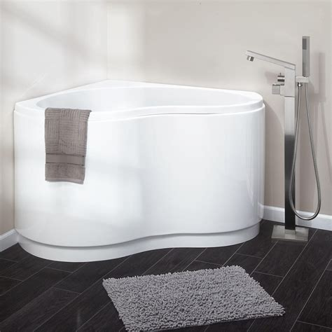 corner freestanding bathtub 49 quot kenora acrylic corner tub bathtubs bathroom