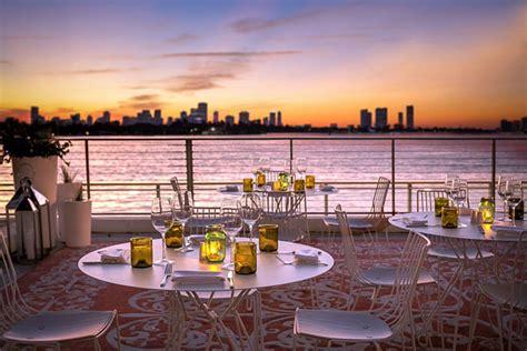 top bars in south beach la savina restaurant at south beach s mondrian hotel