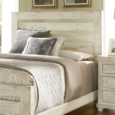 Distressed Headboard by Progressive Furniture Willow King Slat Headboard With
