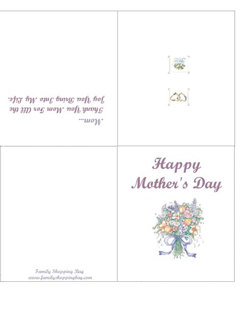 printable mothers day cards for to make free pickle coloring pages