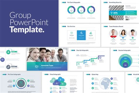 Group Powerpoint Template By Designdistrict On Envato Elements Work Presentation Envato Powerpoint Templates