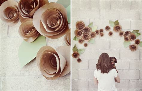 diy paper flower backdrop green wedding shoes