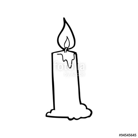candele on line quot line drawing candle quot stock image and royalty free