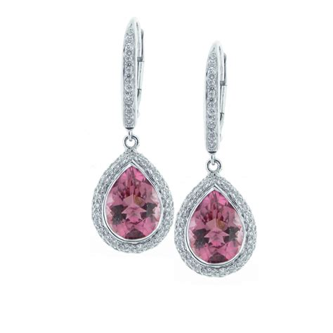 18kt pink tourmaline and earrings