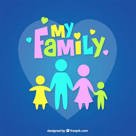 imagenes i love my family my family vector free download