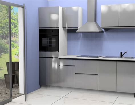 am駭agement cuisine pas cher cuisine complete avec electromenager mana gris brillant