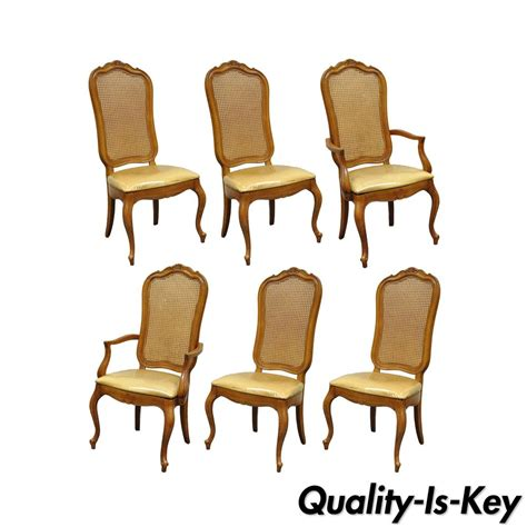 Thomasville Back Dining Chairs by Set Of 6 Vintage Thomasville Country Provinical