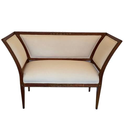 french settee loveseat ultra chic french directoire settee loveseat bench for