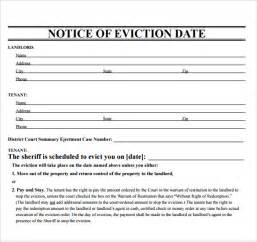 eviction notice template word sle eviction notice template 37 free documents in