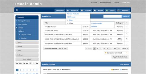 html templates for admin panel free download smooth admin by mike343 themeforest